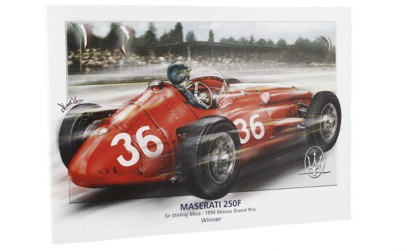 Maserati Lithograph