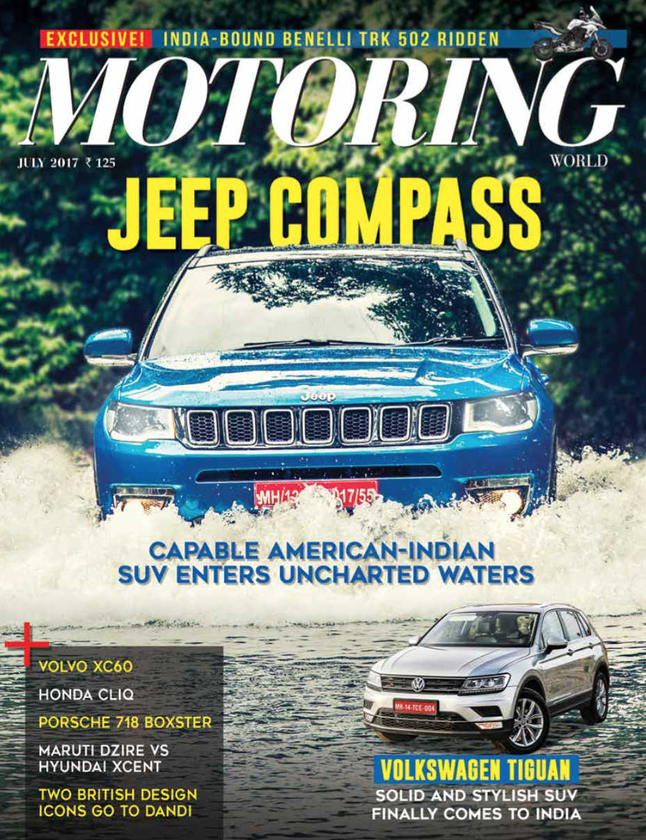 Motoring Cover July Jeep Compass
