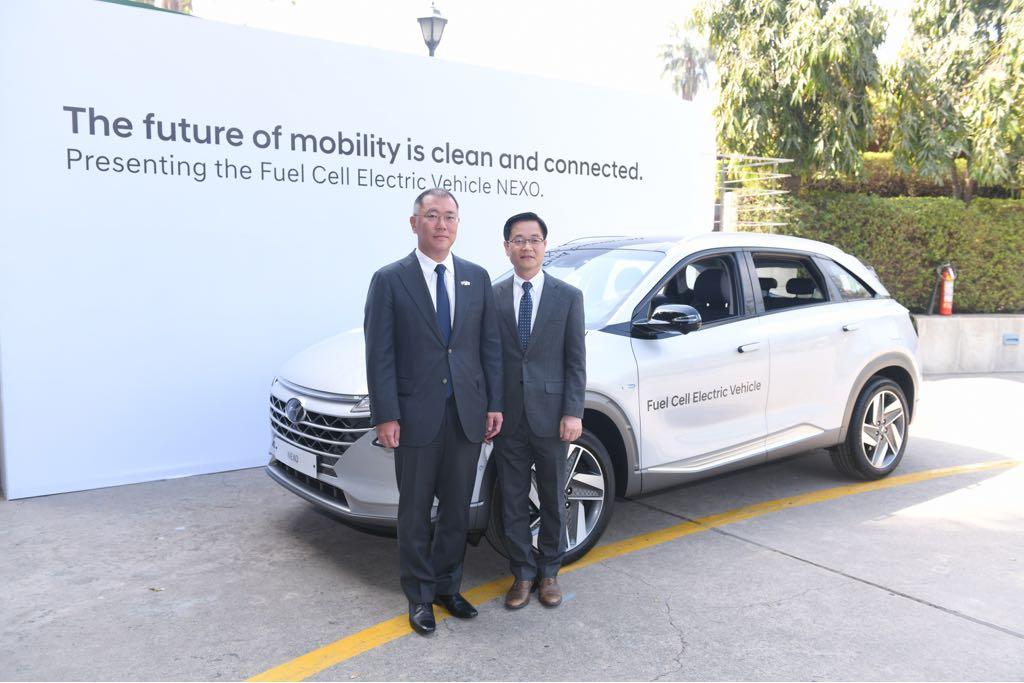 Hyundai Nexo FCEV Showcased In India