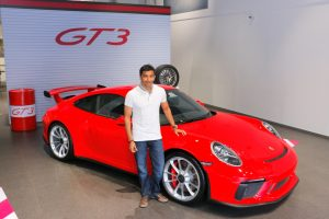 Porsche 911 GT3 Narain Karthikeyan