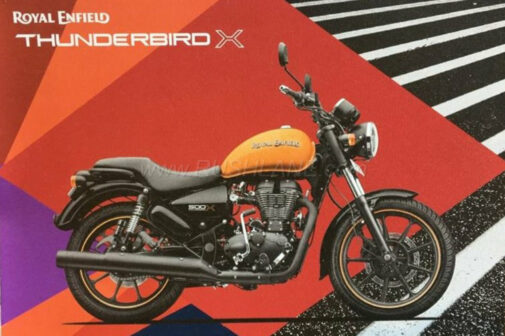 Royal Enfield Thunderbird 500X brochure leaked