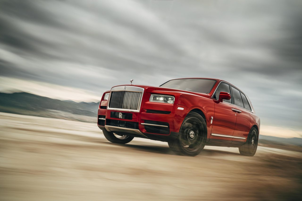 Rolls Royce shows off its first SUV, the