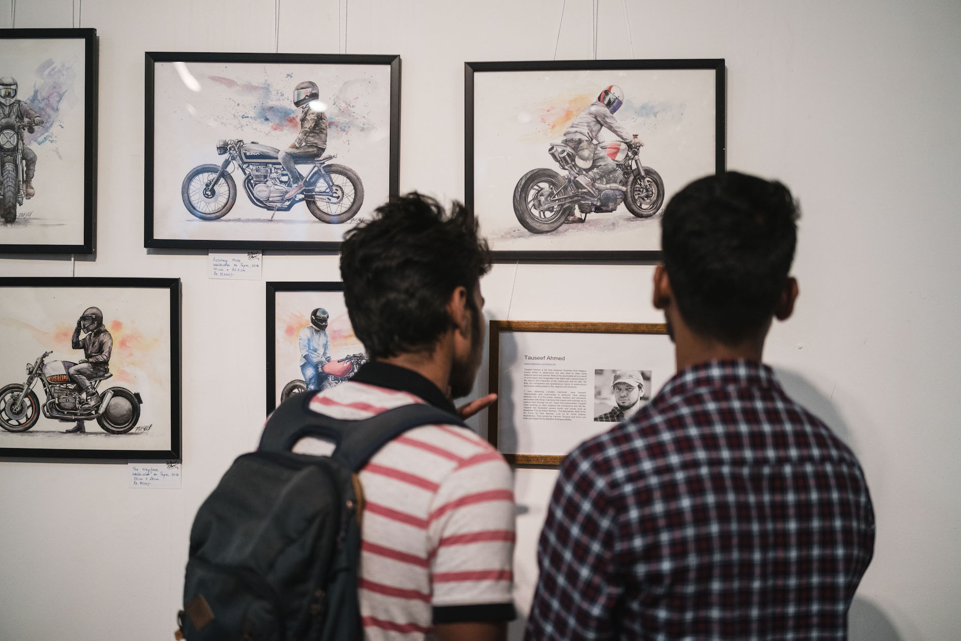 Moto Art Show by Helmets for India