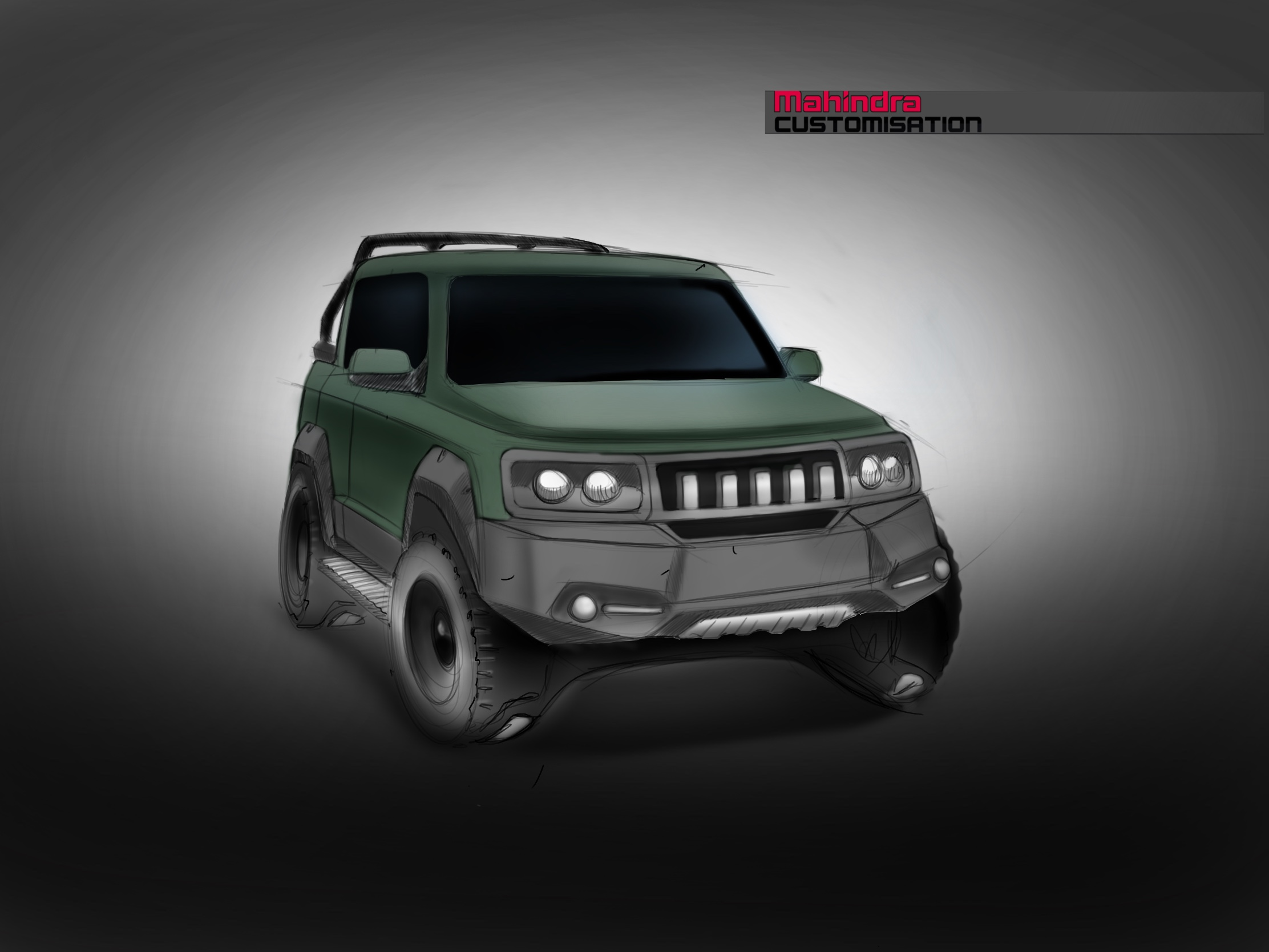 Mahindra Customisation Sketch