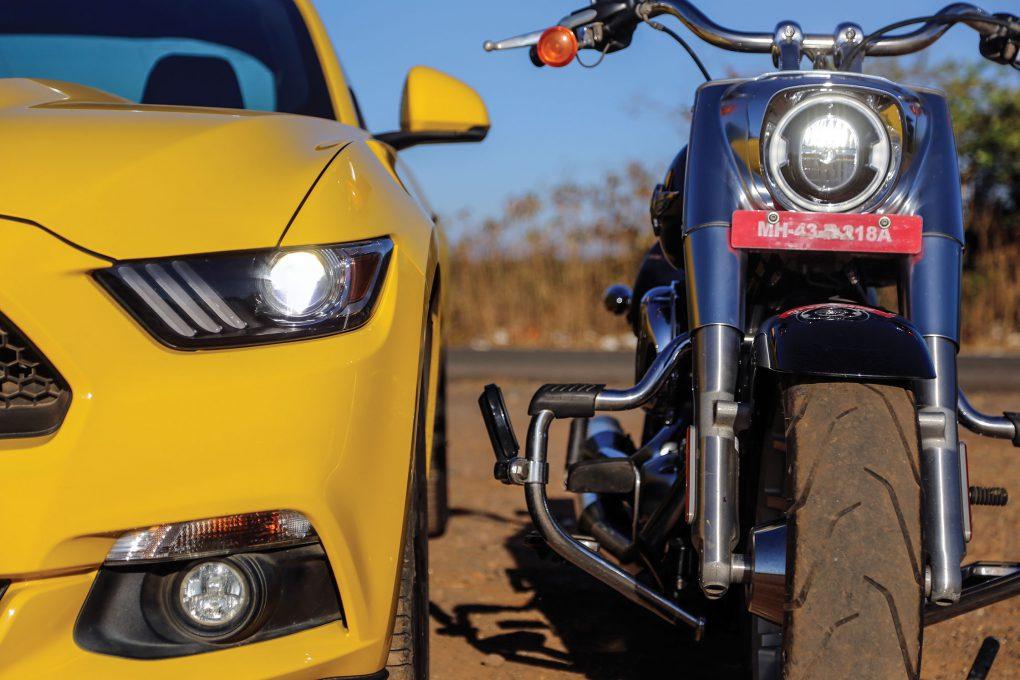 Ford Mustang Vs Harley-Davidson Fat Boy 3