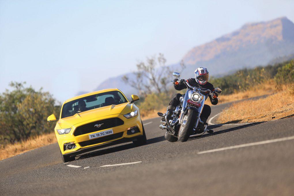 Ford Mustang Vs Harley-Davidson Fat Boy 1