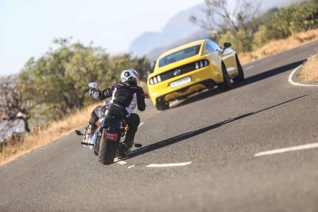 Ford Mustang Vs Harley-Davidson Fat Boy 7